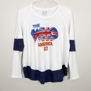 FREE PEOPLE The Who Graphic Band Tee S Thermal